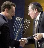 Sarkozy med Menorah